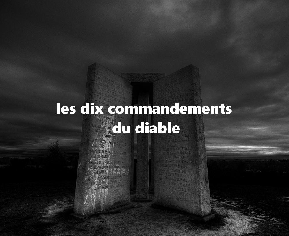 Les dix commandements du diable